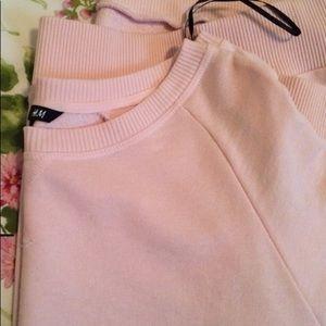 H&M long Sweatshirt Pink